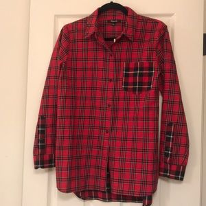 New with tags Madewell flannel plaid shirt